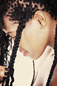 How to curl micro braids
