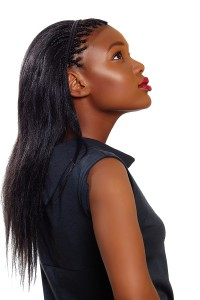Micro braids with straight human hair