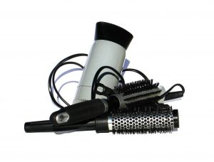 Hair dryer and brushes